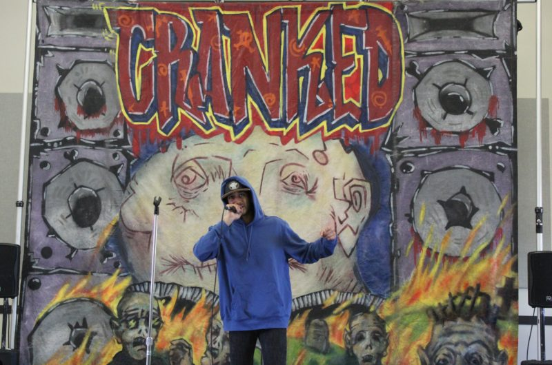 Chirag Naik as Stan in CRANKED by Michael P Northey. Set Design by Justus Hayes.